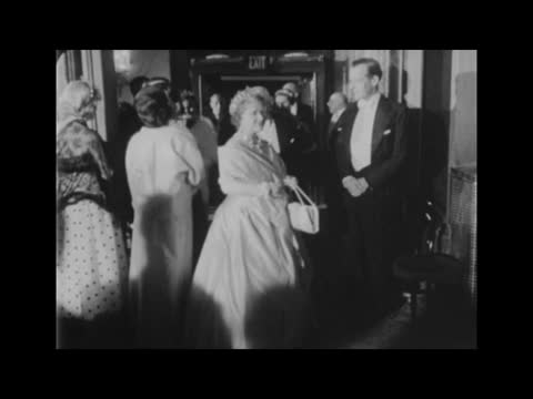 covent garden opera house: 'il trovatore' premiere; tx 20.11.64 story england: london: covent garden: royal opera house: rudolf nureyev and miss joan... - chest stock videos & royalty-free footage