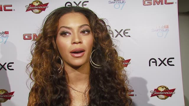 cover model beyonce knowles on how she feels being chosen for the honor of si cover model and how music and fashion work in tandem at the sports... - beyoncé knowles stock videos & royalty-free footage