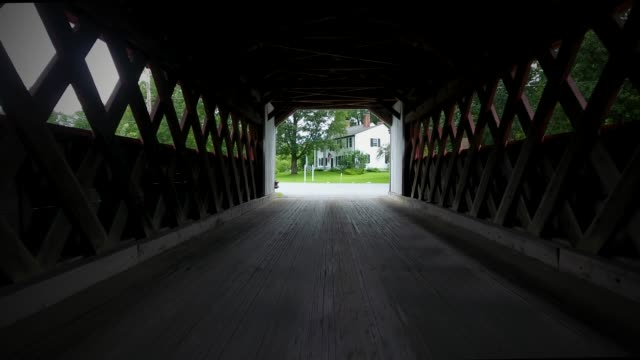 covered bridge - new england usa stock videos & royalty-free footage
