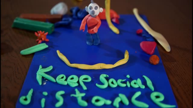 covid rules plasticine - clay stock videos & royalty-free footage