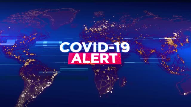4k covid-19 alert - media tv animation graphic background. broadcast design concept. coronavirus spreads worldwide - documentary footage stock videos & royalty-free footage