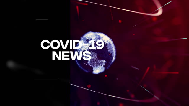 vídeos de stock e filmes b-roll de covid-19, coronavirus breaking news background - jornal