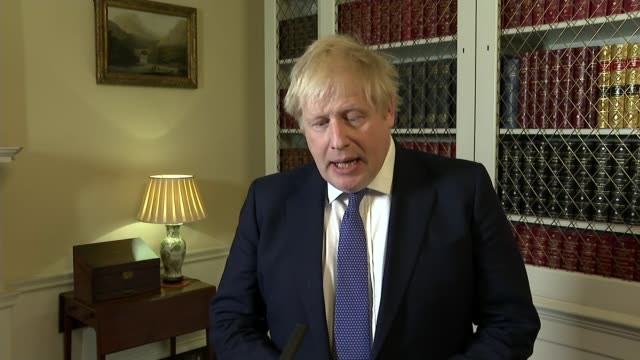 effects and reactions from around the world; england: london: downing street: number 10: int boris johnson mp interview sot. - boris johnson stock videos & royalty-free footage