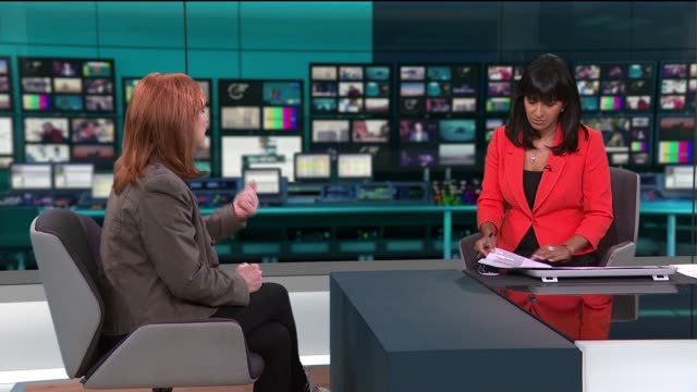 calls europe the new epicentre as new cases in china fall and us cases rise sharply; england: london: gir: int dr sarah jarvis studio interview sot - itv stock videos & royalty-free footage
