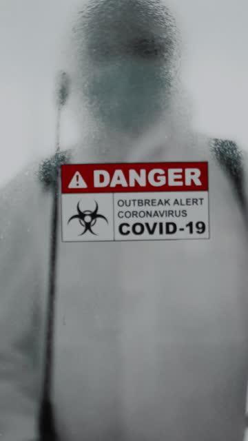 covid-19 効果:d感染 - バイオハザードマーク点の映像素材/bロール
