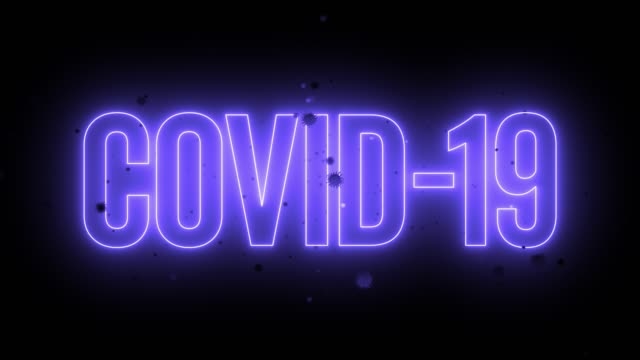 3d covid-19 neon title - lighting equipment stock videos & royalty-free footage
