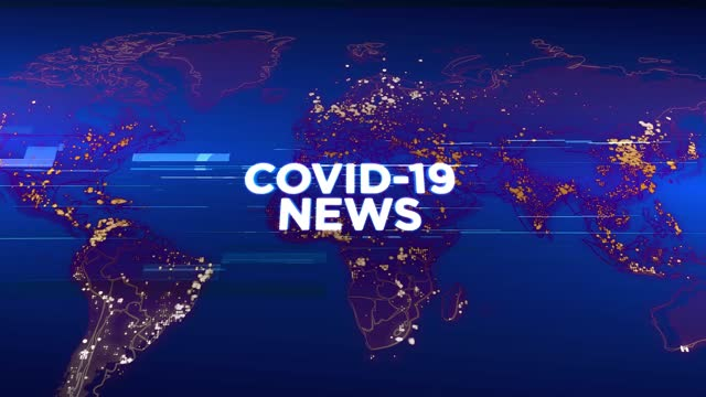 4k covid-19 news - media tv animation graphic background. broadcast design concept. coronavirus spreads worldwide - documentary footage stock videos & royalty-free footage