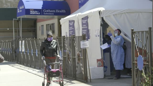 covid-19 testing in harlem at nyc health + gotham health, sydenham - manhattan stock videos & royalty-free footage
