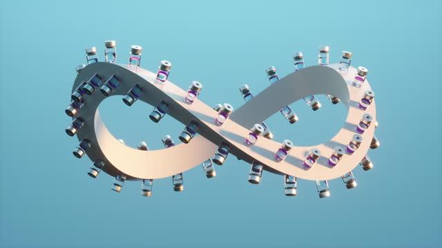 covid-19 vaccine infinity loop - image stock videos & royalty-free footage