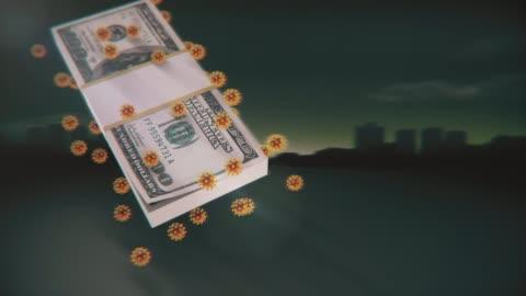 vídeos y material grabado en eventos de stock de covinavirus que afecta a la economía americana y mundial que afecta al dólar - antecedentes para la plantilla de diseño gráfico - hispanoamérica