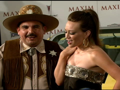 stockvideo's en b-roll-footage met cowboy and hilary duff at the maxim's 8th annual hot 100 party at ono at the gansevoort hotel in new york, new york on may 16, 2007. - agrarisch beroep