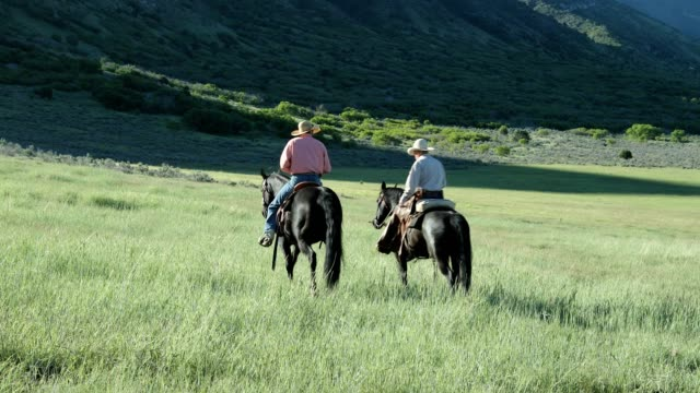 Cowboy and Senior Cowboy Ride in Country