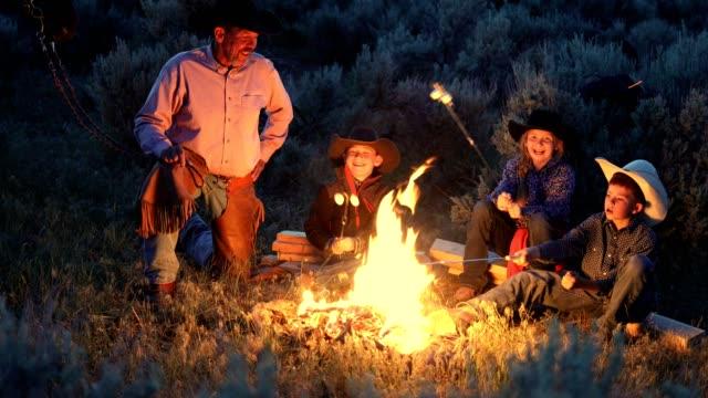Cowboy Family Campfire Cookout