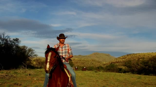cowboy rides his horse - karoo stock videos & royalty-free footage
