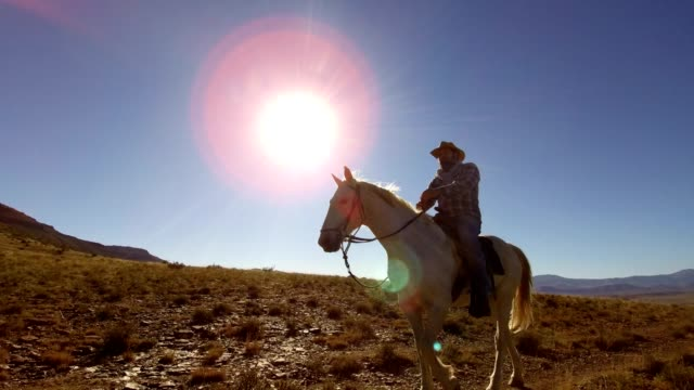 cowboy riding his horse - cowboy stock videos & royalty-free footage