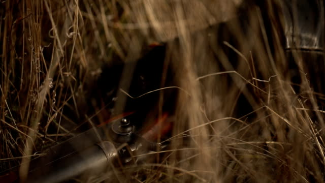 cowboy sleeping in grass - rifle stock videos & royalty-free footage