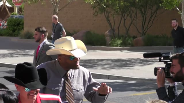 cowboy troy arriving to the 52nd academy of country music awards in celebrity sightings in las vegas - academy of country music awards stock videos & royalty-free footage