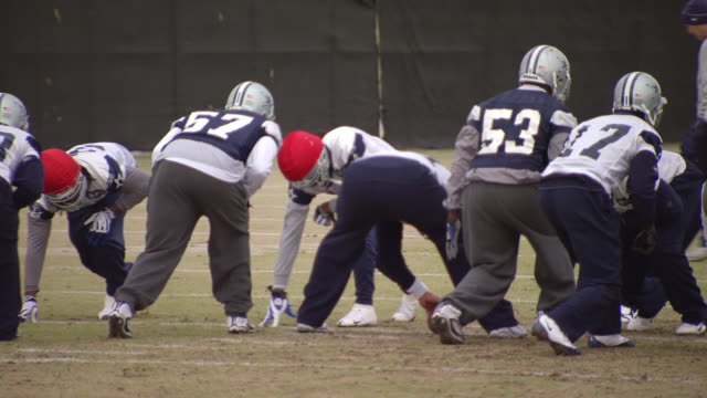 cowboys football team doing training / dallas, united states - nfc east stock videos & royalty-free footage