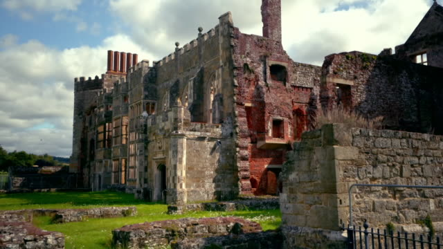 cowdray ruins in sussex, uk - ruined stock videos & royalty-free footage