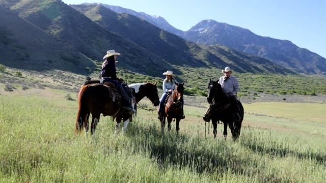 Cowgirls and Senior Cowboy Ride in Country
