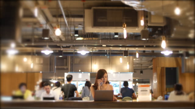 co-working space in high-end restaurants - outsourcing video stock e b–roll
