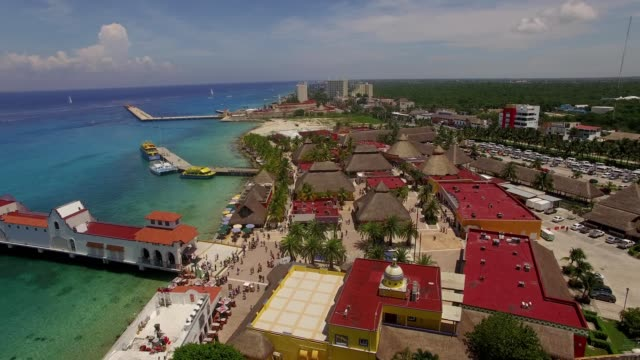 cozumel aerial - cozumel stock videos and b-roll footage