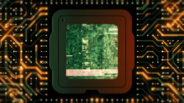 cpu or circuit board high technology backgrounds - mother board stock videos & royalty-free footage