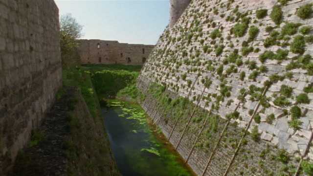 LA, MS, Crac des Chevaliers fortress and moat, Syria