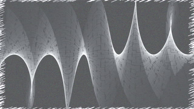 cracked audio waves - radio frequency identification stock videos & royalty-free footage