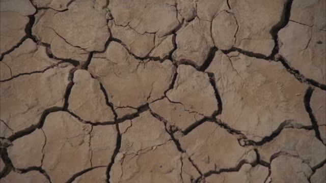 CU Cracks on dried up land / Mojave, California, USA