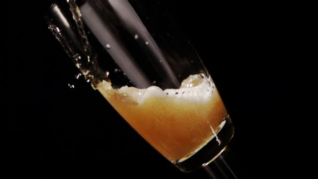 Craft Lager poured into Glass - Part 4 of 5