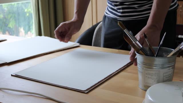 lavoro artigianale - arte video stock e b–roll