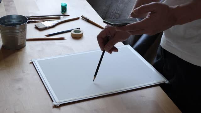 vídeos de stock e filmes b-roll de craft working - borracha material de escritório