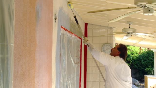 ms craftsman preparing wall for applying plaster later / rancho mirage, california, usa.  - rancho mirage stock videos & royalty-free footage