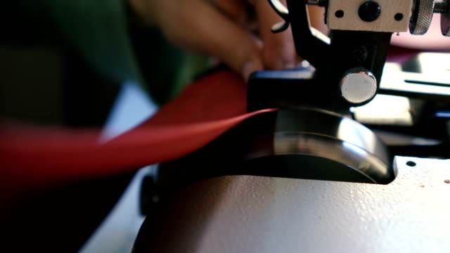craftsman works in workshop - leather stock videos and b-roll footage