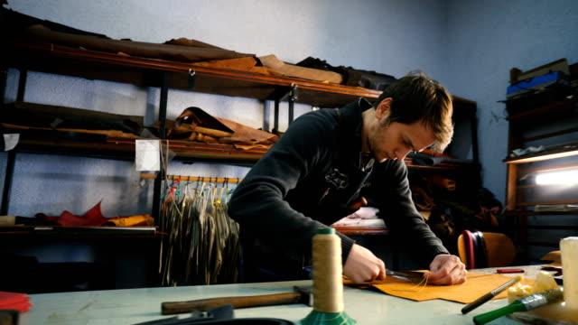 craftsmen work in workshop - tailor stock videos & royalty-free footage