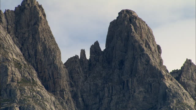 AERIAL Craggy peak/ Alpes-Maritimes, France