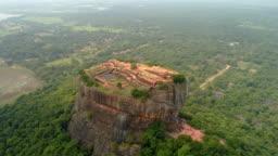 WS Craggy,rock formation towering over lush green landscape,Sri Lanka, Sigiriya