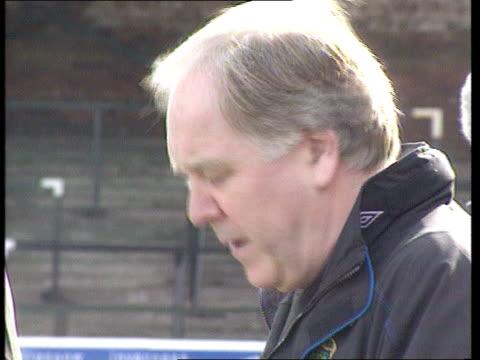 craig brown bigotry allegations; lib scotland: ayr: ext brown at scotland training session - ayr stock videos & royalty-free footage