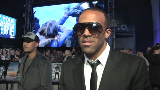 craig david on justin bieber, his music, the brits, jessie j and more at the justin bieber: never say never premiere at london england. - interview raw footage stock videos & royalty-free footage