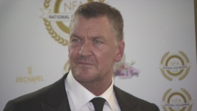 craig fairbrass at the 4th annual national film awards at porchester hall on march 28, 2018 in london, england. - ポーチェスター点の映像素材/bロール