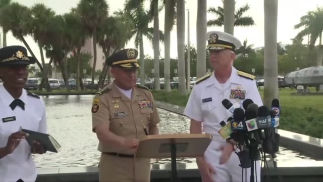 craig faller commander of us southern command warns venezuela's military you'll ultimately be held accountable for your actions - doral stock videos and b-roll footage
