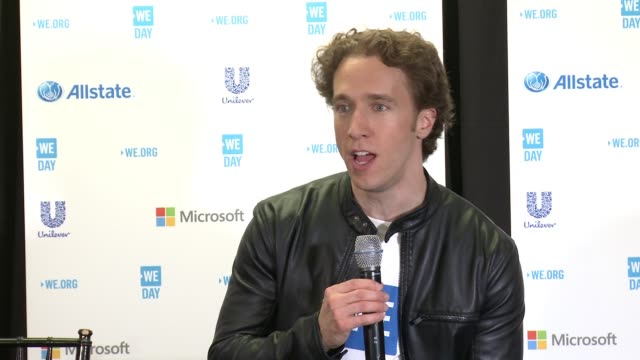 speech craig kielburger at we day california at the forum on april 07 2016 in inglewood california - inglewood stock videos and b-roll footage