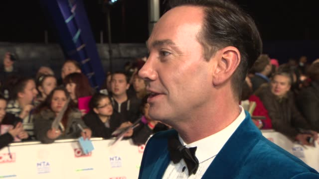 interview craig revel horwood on the atmosphere at the national tv awards at national television awards at 02 arena on january 22 2014 in london... - television awards stock videos & royalty-free footage