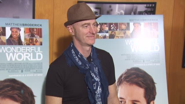 vídeos y material grabado en eventos de stock de craig richey at the 'wonderful world' premiere at west hollywood ca - west hollywood