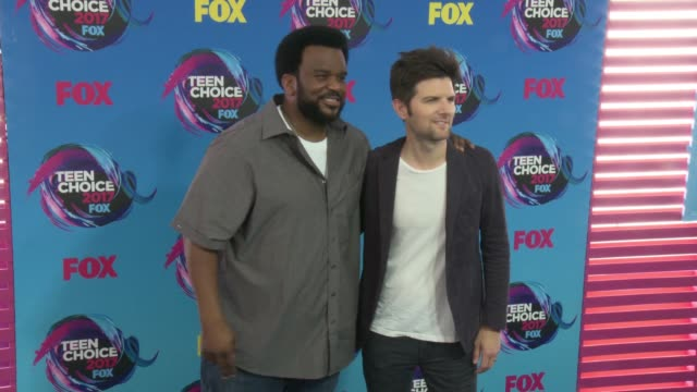 Craig Robinson Adam Scott at Teen Choice Awards 2017 in Los Angeles CA