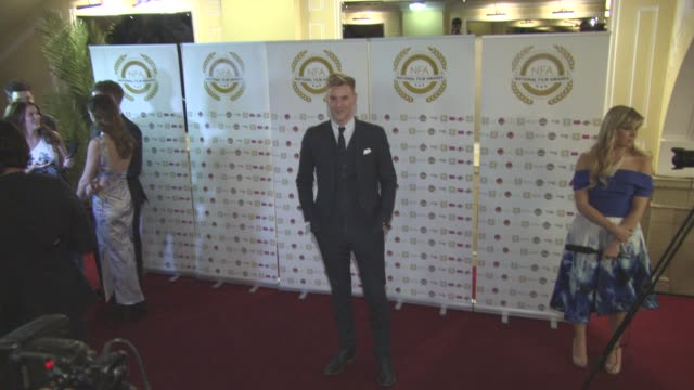craig stevens at national film awards at porchester hall on march 30, 2016 in london, england. - ポーチェスター点の映像素材/bロール