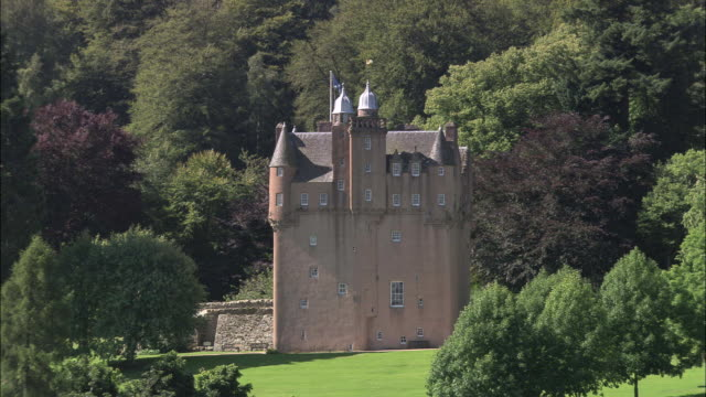 craigievar castle - scottish culture stock videos & royalty-free footage
