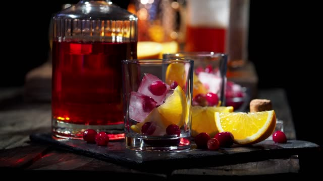 cranberry orange cocktail - cranberry stock videos & royalty-free footage