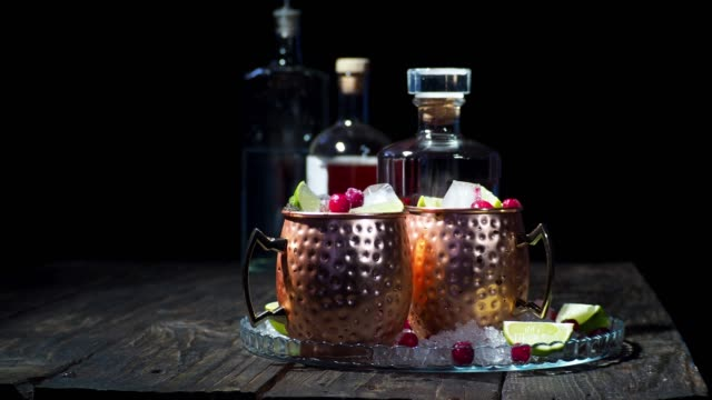 cranberry pomegranate moscow mule - cranberry stock videos & royalty-free footage